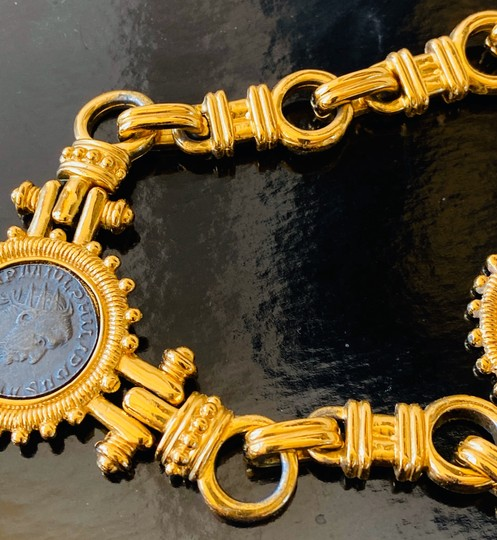 Carolee carolee bvlgari style coin necklace and earrings Image 5