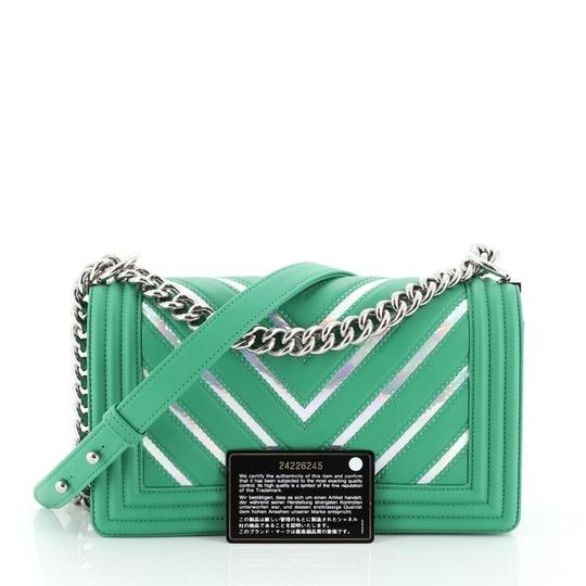 Chanel Leather Textile Cross Body Bag Image 1