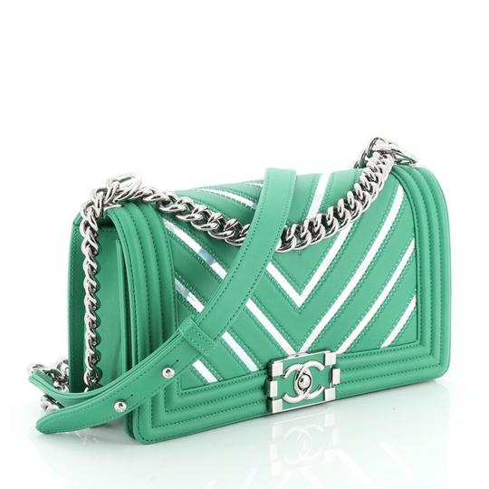 Chanel Leather Textile Cross Body Bag Image 2