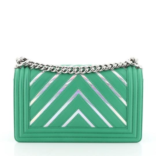 Chanel Leather Textile Cross Body Bag Image 3
