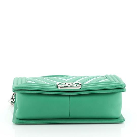 Chanel Leather Textile Cross Body Bag Image 4