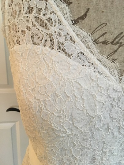 Adrianna Papell White Lace Casual Wedding Dress Size 14 (L) Image 2