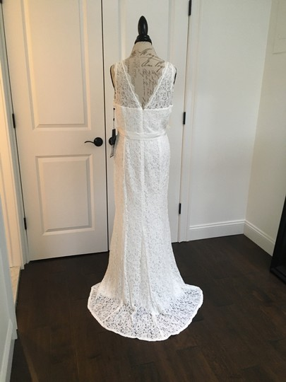 Adrianna Papell White Lace Casual Wedding Dress Size 14 (L) Image 3