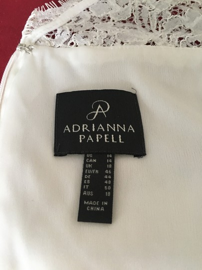 Adrianna Papell White Lace Casual Wedding Dress Size 14 (L) Image 4