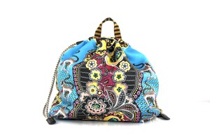 Etro Silk Paisley Money Satin Backpack