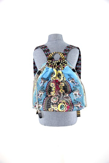 Etro Silk Paisley Money Satin Backpack Image 1