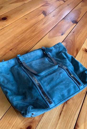 Coach Tote in Teal Image 1