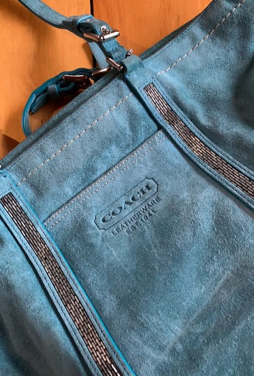 Coach Tote in Teal Image 2