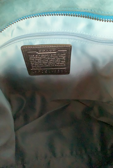 Coach Tote in Teal Image 4