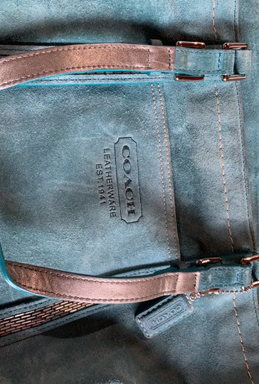 Coach Tote in Teal Image 8