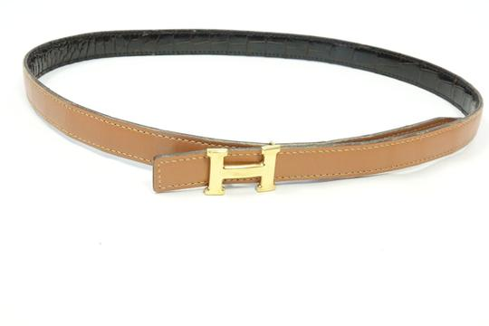 Hermes in Box Brown Constance 23 mm Mini Crocodile Leather 74cm Buckle Belt M Image 2