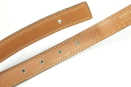 Hermes in Box Brown Constance 23 mm Mini Crocodile Leather 74cm Buckle Belt M Image 5
