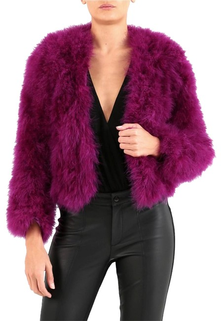 Preload https://img-static.tradesy.com/item/26412573/forever-unique-magenta-feather-jacket-coat-size-2-xs-0-1-650-650.jpg