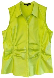 Lafayette 148 New York Sleeveless With Tags Top neon green/yellow