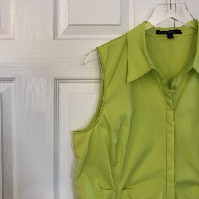 Lafayette 148 New York Sleeveless With Tags Top neon green/yellow Image 2