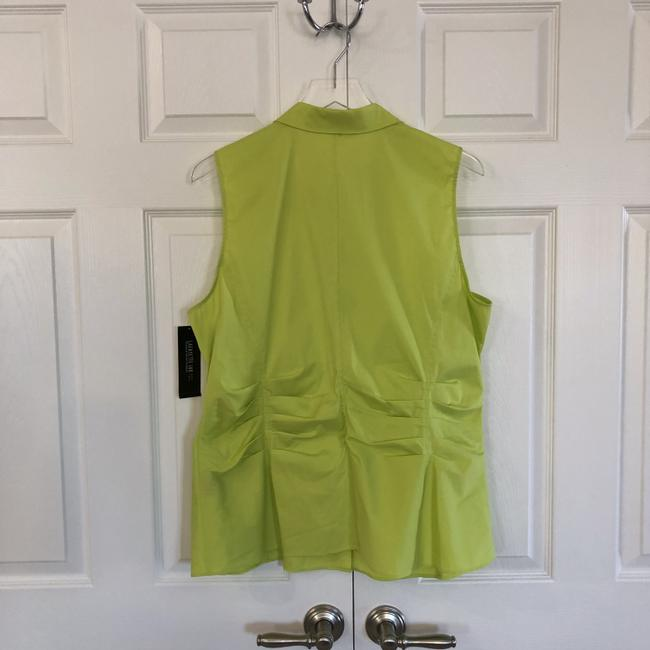 Lafayette 148 New York Sleeveless With Tags Top neon green/yellow Image 6