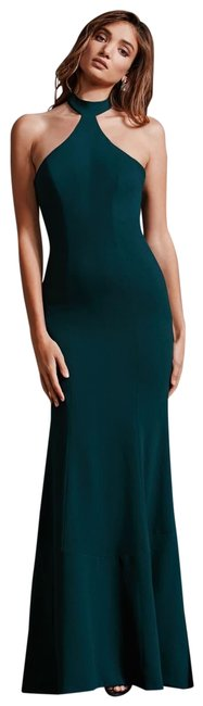 Item - Pine Taylor Halter Neck Crepe Gown Long Formal Dress Size 12 (L)