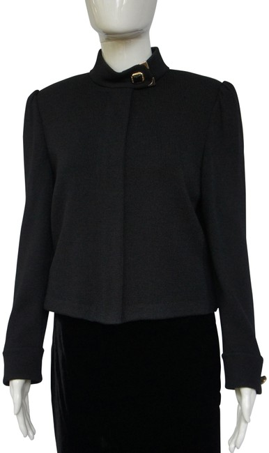 Item - Black Marie Gray Collection Zipper and Coordinating Basics Shell Blazer Size 6 (S)