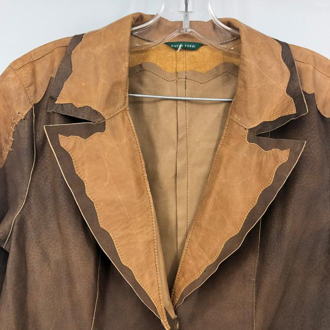 Silvio Tossi brown Leather Jacket Image 2