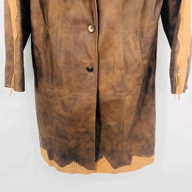 Silvio Tossi brown Leather Jacket Image 3