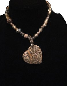 RECcreations Tiger's Eye Statement Necklace