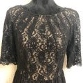Maggy London Black / Nude Lace Cocktail Mid-length Short Casual Dress Size 12 (L) Maggy London Black / Nude Lace Cocktail Mid-length Short Casual Dress Size 12 (L) Image 4