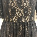 Maggy London Black / Nude Lace Cocktail Mid-length Short Casual Dress Size 12 (L) Maggy London Black / Nude Lace Cocktail Mid-length Short Casual Dress Size 12 (L) Image 5