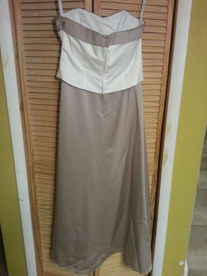 Alfred Angelo Ivory Cafe Satin 6306 Formal Dress Size 16 (XL, Plus 0x)