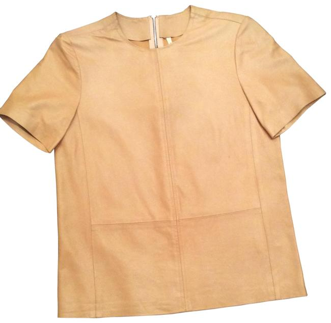 Item - Peach Leather Blouse Size 0 (XS)