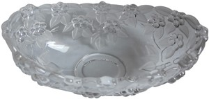 Mikasa Mikasa Carmen Crystal Grapes and Etched Leaves Oval Serving Bowl