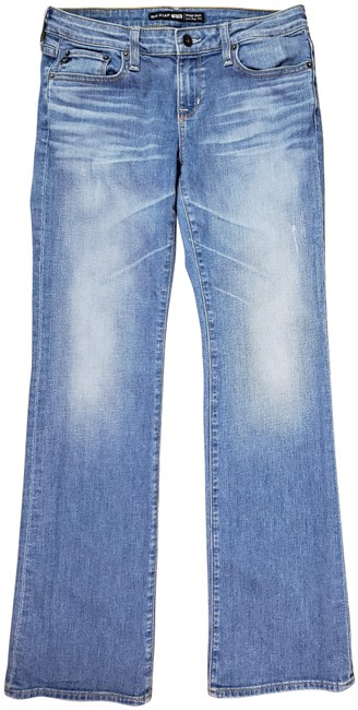 Item - Blue Distressed Remy - 1974 Low Rise Fit - 28r - Boot Cut Jeans Size 28 (4, S)