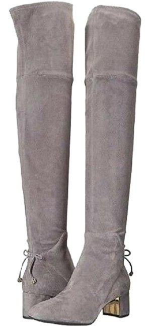 Item - Grey Laila Over The Knee Boots/Booties Size US 8 Regular (M, B)