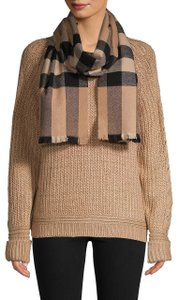 Burberry Burberry Wool-Blend Exploded Check Lash-Fringe Logo Scarf