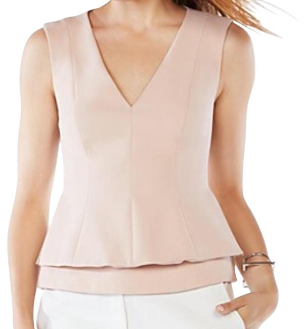 Item - Pink Bcbg Natural Jacquelynna Layered Peplum Shirt Tank Top/Cami Size 00 (XXS)