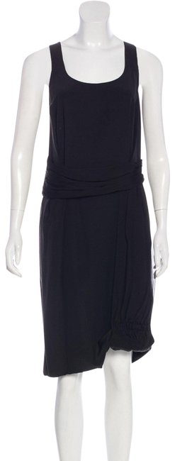 Item - Black Silk Christian Clothes/Nwot Designer Clothes Mid-length Night Out Dress Size 12 (L)