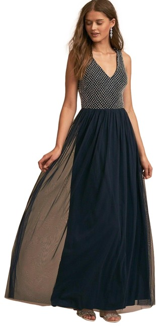 Item - Blue Bryce Peal Top Tulle Long Formal Dress Size 10 (M)