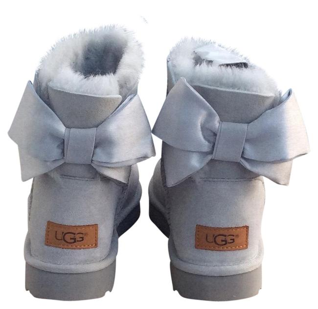 Item - Grey Violet Mini Bailey Bow Ii Glam Boots/Booties Size US 8 Regular (M, B)