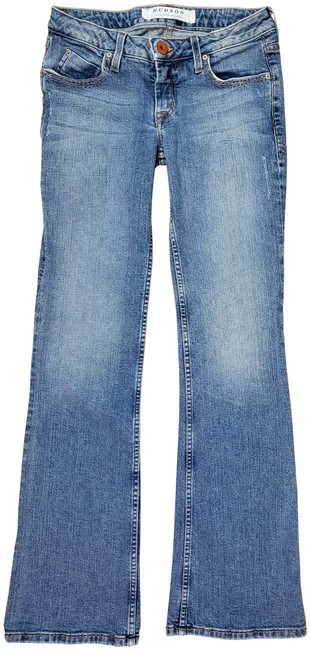 Item - Blue Distressed Fine Tailored - Boot Cut Jeans Size 28 (4, S)