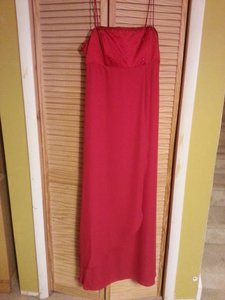 Alfred Angelo Cherry Satin & Crepe 6644 Formal Bridesmaid/Mob Dress Size 14 (L)