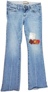 Paige Patches Patchwork Distressed 28 Boot Cut Jeans-Distressed