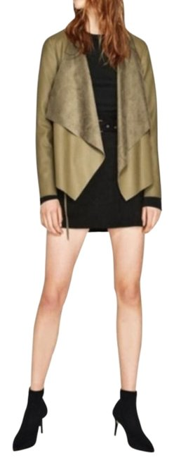 Item - Green Olive Faux Open-front Super Soft Easy-to-wear Jacket Size 2 (XS)