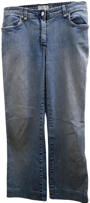 Item - Blue Distressed Washed Trouser/Wide Leg Jeans Size 30 (6, M)