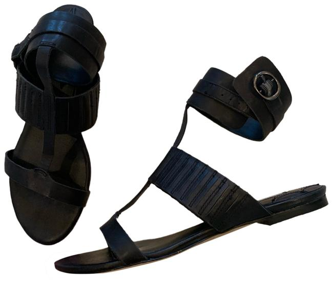 Item - Black Nwot Leather Strapped Sandals Size US 8 Regular (M, B)