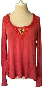 Free People Top blood orange