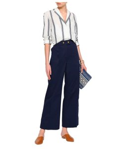 Tory Burch Wide Leg Pants Navy
