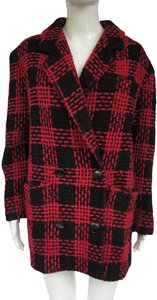 Courrèges Tweed Buffalo Plaid Pea Coat