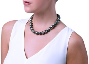 American Vintage TAHITIAN PEARL Necklace 14k Gold Ball Clasp 10-14mm Rare Find!!