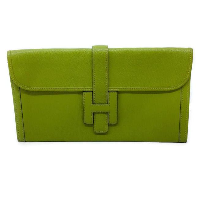 Item - Jige Lime Green Leather Clutch