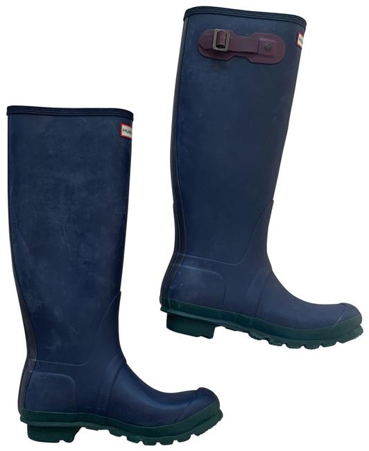 Item - Green Blue Red Like New Rubber Tall Rainboots Boots/Booties Size US 8 Regular (M, B)