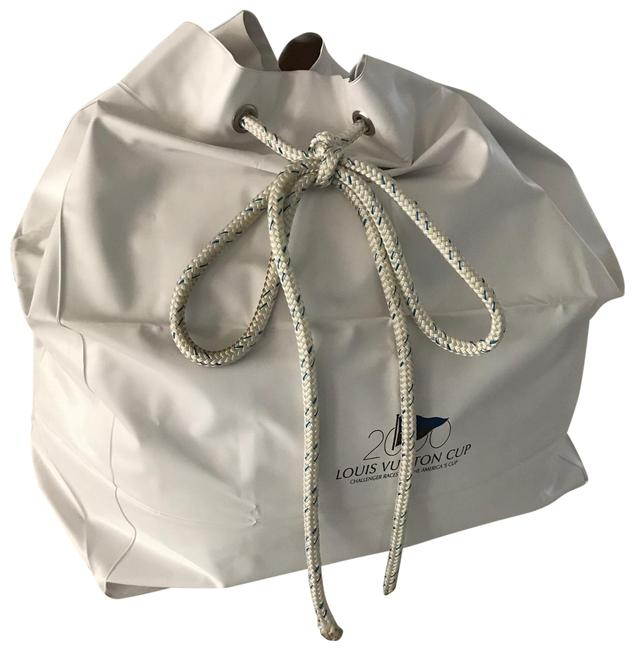 Item - Duffle America's Cup Limited Edition Year 2000 White Nylon Vinyl Weekend/Travel Bag